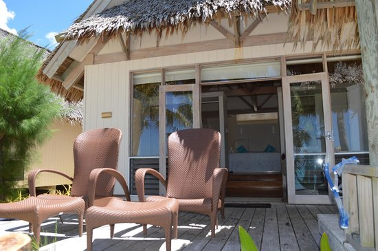 Titikaveka, Cook Islands: Our bungalow from our deck