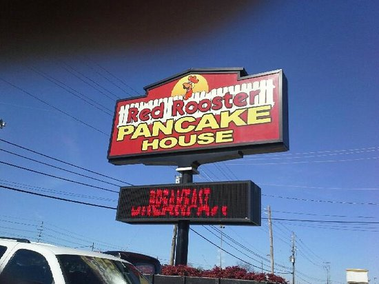 Red Rooster Pancake House : Attention getter