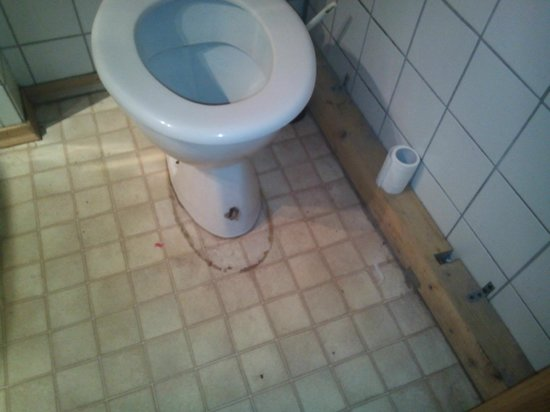 Appartementhaus Almberg: Toilet with 100 years old dirty