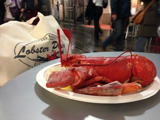 The Lobster Place: lobster for lunch ! :-)