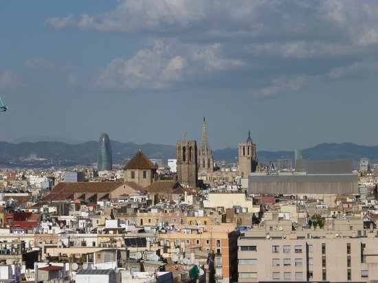 Barcelona Universal Hotel: view from roof