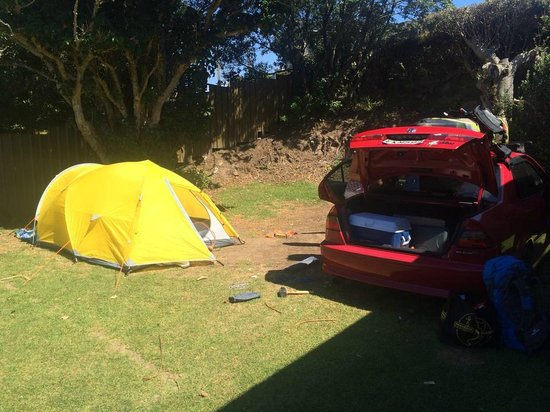 Waihi Beach Top 10 Holiday Resort: our beach side corner campsite