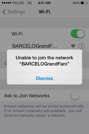 Barcelo Grand Faro Los Cabos: wifi issues