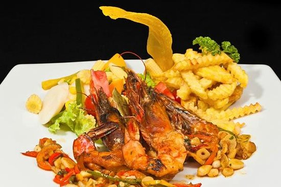 Island Crab Seafood: Langostino al ajillo