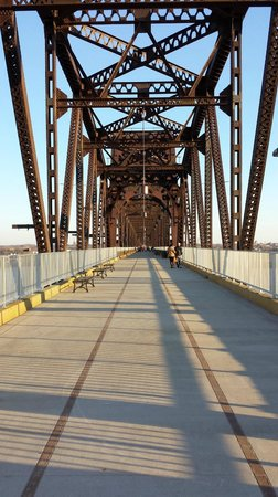 Louisville Waterfront Park: Walking Bridge over the Ohio River, Louisville, KY