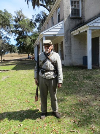 Fort McAllister State Historic Park Campground: Civil War Soldier