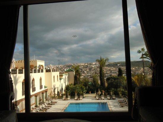 Sofitel Fes Palais Jamai: View of the gardens from Bar