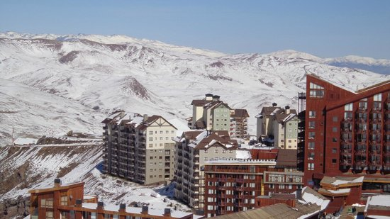 Hotel Valle Nevado: Vista do pico