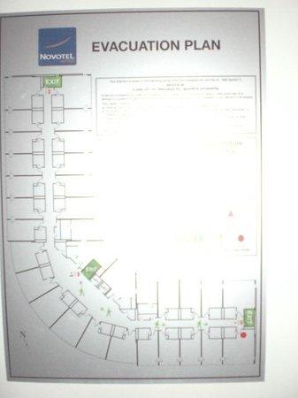 Novotel Sydney Rooty Hill : Evac Plan