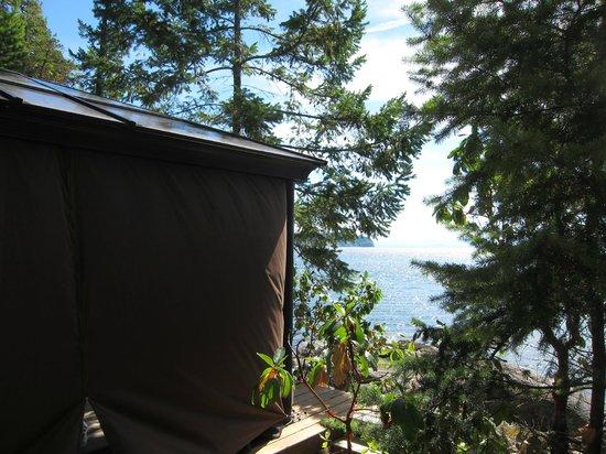 Rockwater Secret Cove Resort : Outside the massage tent