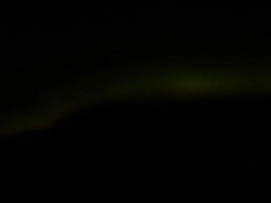 Grotta Lighthouse: faint aurora when we arrived