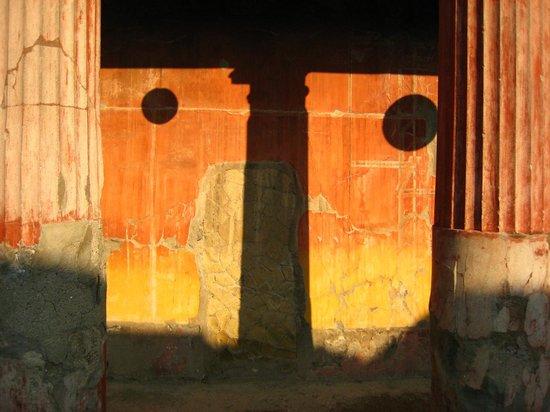 Ruins of Herculaneum: One of the villa walls in Herculaneum