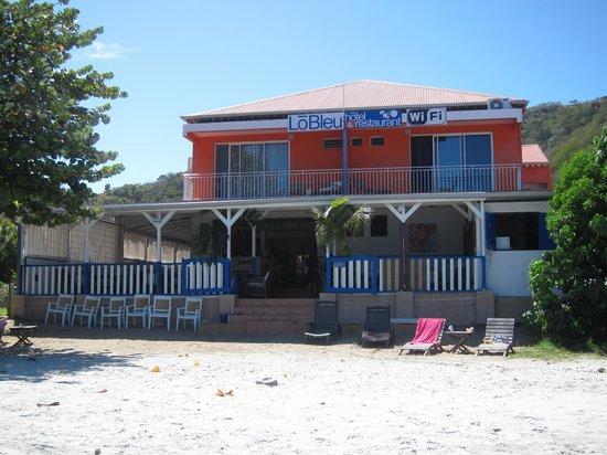 LoBleu Hotel : Hotel LoBleu strandseitig