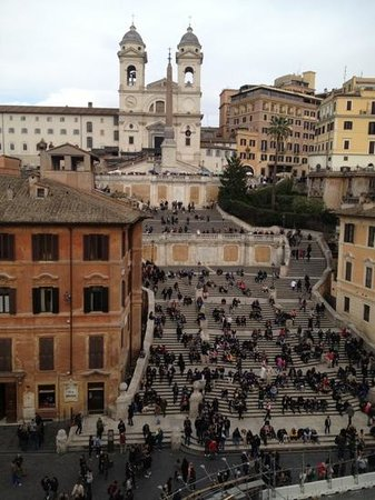 The View At The Spanish Steps - Small Luxury Hotel: view from our room at 'The View'.