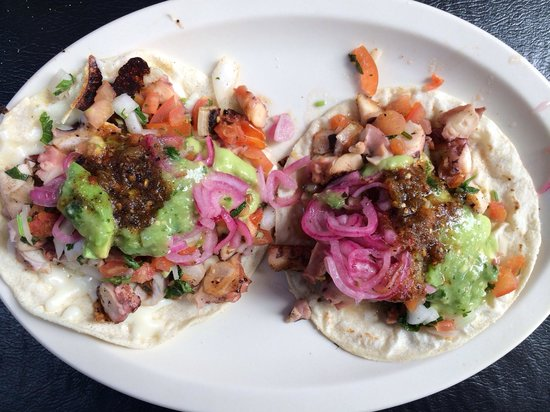 Octopus tacos picture of los claros san jose del cabo for Best fish tacos nyc
