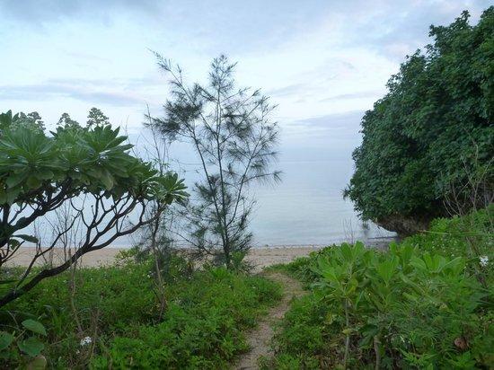 Beach Village Nosoko: ホテル下ビーチアプローチ