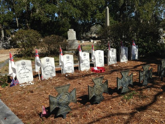 Magnolia Cemetery: Hunley Graves