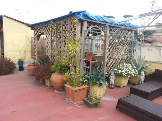 Domus Valeria : O terraço do café da manhã.