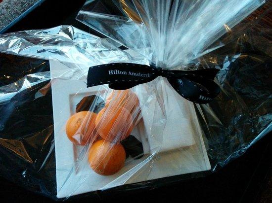 Hilton Amsterdam: Welcome gift