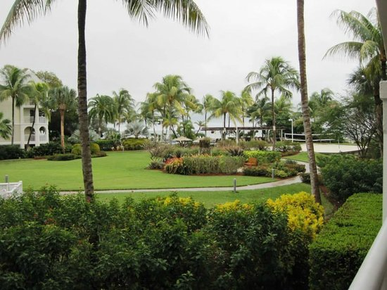 Hyatt Windward Pointe: View of Grounds from our room.  Can you see the ocean?  Exactly!