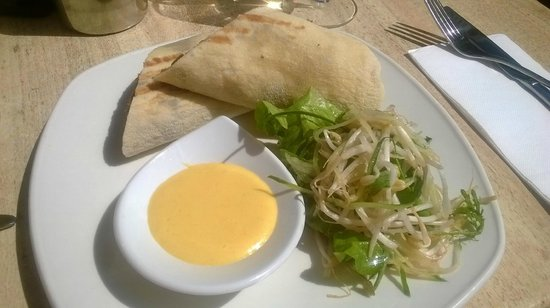 Stillwater: Flinders Island Lamb wrap with hollandaise sauce and beansprouts