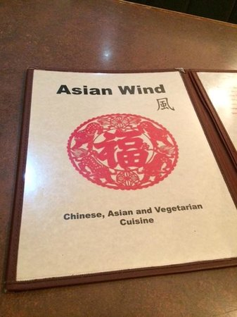 Asian Wind: Menu