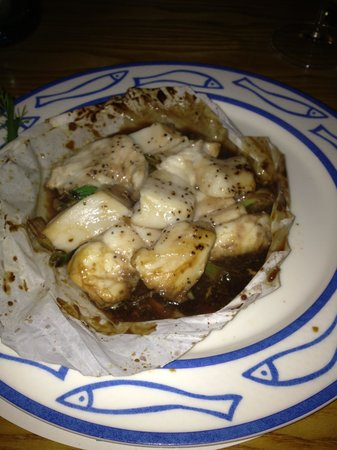Gamba Seafood Restaurant: Monkfish and Scallops