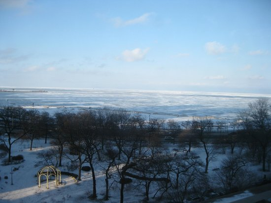 The Drake Hotel: Ice covered Lake Michigan