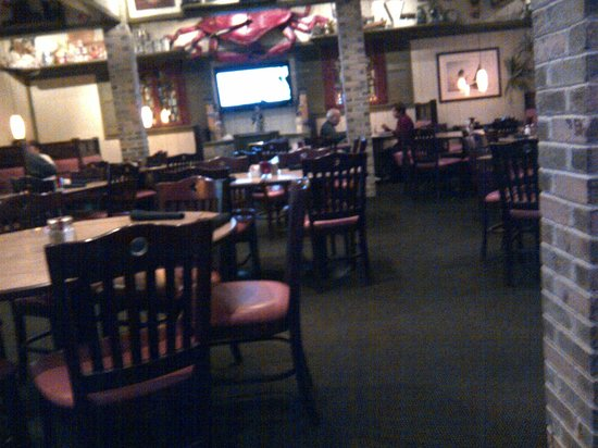Fallston Seafood Restaurant View Of Main Dining Area Tv