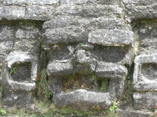 Belize Cruise Excursions: A face in the ruins