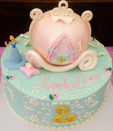 Beautiful 2nd Birthday Cinderella Cake Picture of Cake Placid