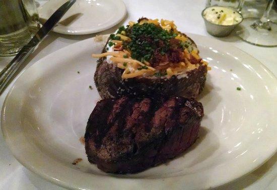 St. Elmo Steak House : Petite Filet and loaded baked potato.