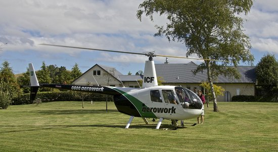 Ruapehu Country Lodge : Helicopter pick up/drop off on site