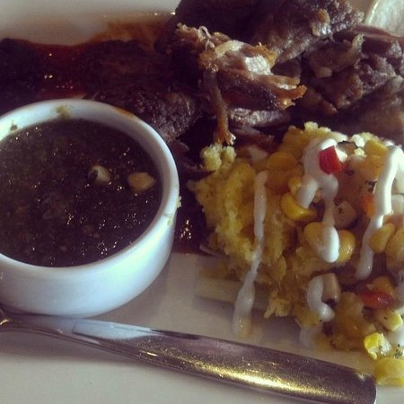 Turquoise Room: Crispy Carnitas & sweet corn tamale YUM!