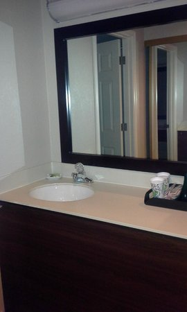 Tan-Tar-A Resort, Golf Club, Marina & Indoor Waterpark: Upgraded bathroom