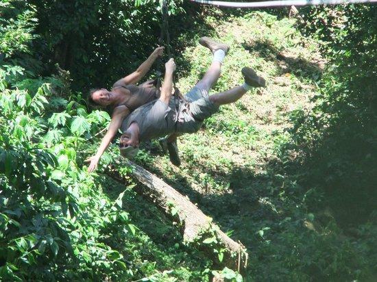 Jungle Top Zipline Adventure: Doing tricks!