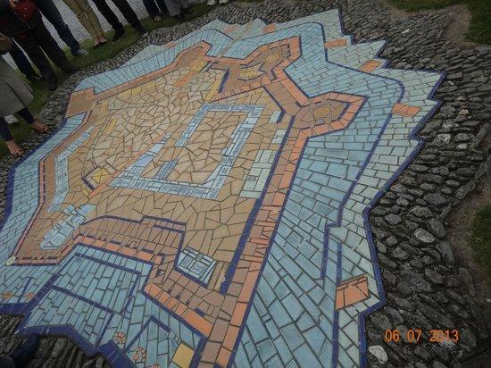 Fortaleza Charles Fort: mapa