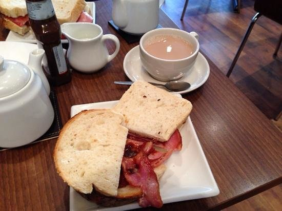 Salcombe Coffee Co: the famous bacon sandwich!