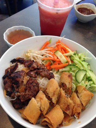 Fresh Watermelon Bubble Tea 6 50 Charbroiled Pork And