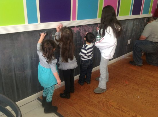 A.G's Cupcakery & Coffee Bar: Chalk Board in the Party Room
