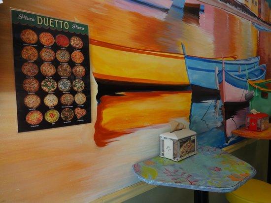 Duetto Pizza and Gelato : Restaurant interio
