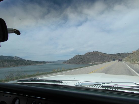 Horsetooth Mountain Open Space: The view is always better inside a classic car