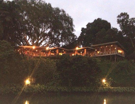 Haleiwa Joe's: Garden view to restaurant