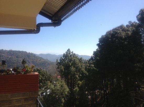 Kasauli Castle: view from room 205