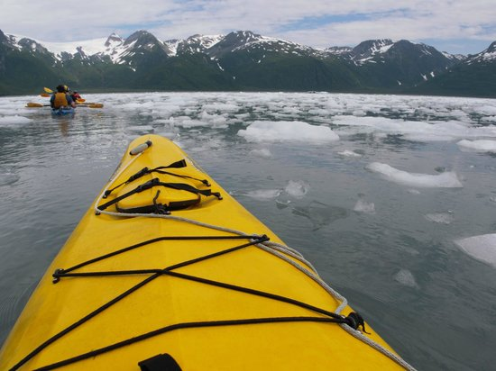 Kayak Adventures Worldwide: Best part of the paddling - between ice
