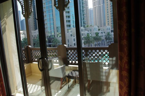 The Palace Downtown Dubai: Private balcony looking out onto water
