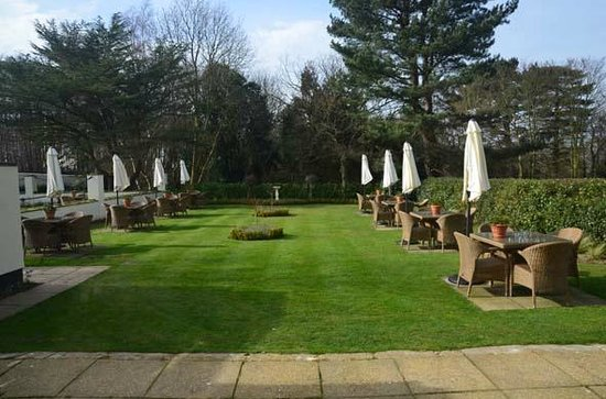 The Pheasant Hotel: Lovely lawn area outside lounge
