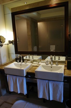 Palace Downtown: His and Hers sinks