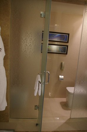 Palace Downtown: Separate toilet and bidet from rest of bathroom