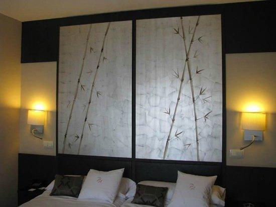 Hotel Paseo del Arte : 716号室の襖絵風インテリア